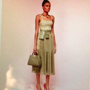none Bags - Khaki Green Faux Leather Utility Waist Belt